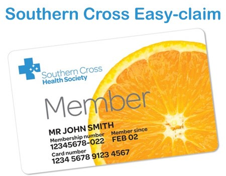 We are now registered with Southern Cross Health Society Easy-claim