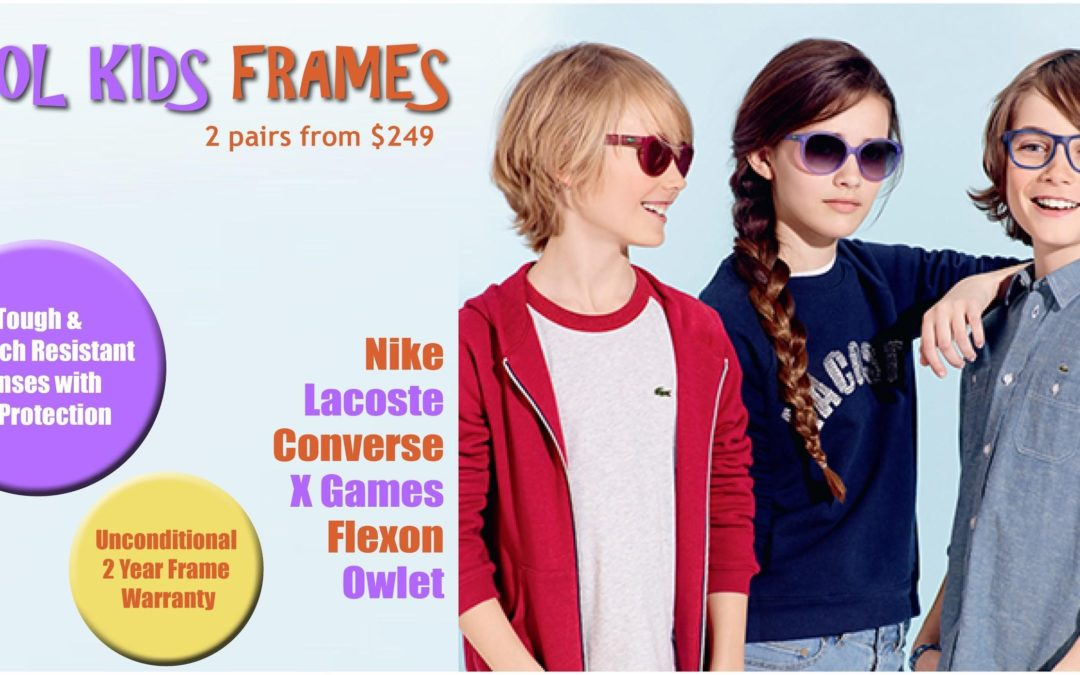 Kool Kids back to school offer: 2 pairs of glasses from $249!